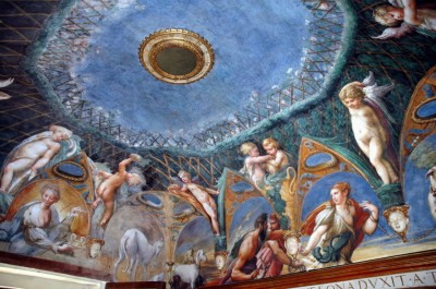Parmigianino Diana Atteone Stufetta Fontanellato