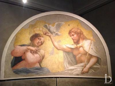 Affresco del Correggio in Galleria Nazionale