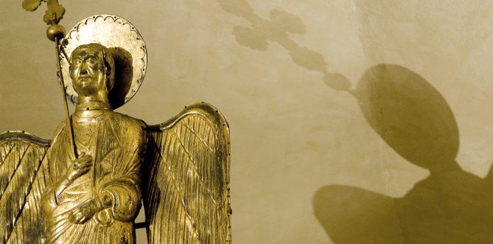(L'Angelo D'Oro nella sua nuova sede all'interno del Museo Diocesano di Parma. Fonte: http://www.piazzaduomoparma.com/museo-diocesano/)
