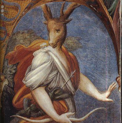 Affresco Diana e Atteone Parmigianino