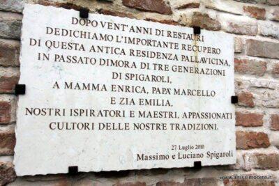 Targa dell'Antica Corte Pallavicina