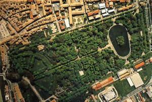Vue d'en haut du Parco Ducale